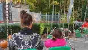 """""""The Biggest Loser""""-Gewinnerin Alexandra mit ihrer Nichte"""