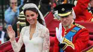 Herzogin Kate und Prinz William an ihrer Hochzeit 2011