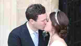 Jack Brooksbank und Prinzessin Eugenie: Der Hochzeitskuss
