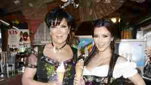 Kim Kardashian und Kris Jenner Oktoberfest