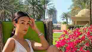 Verona Pooth in Dubai im Netzkleid auf Instagram 2020