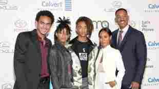 (v.r.): Trey Smith, Willow Smith, Jaden Smith, Jada Pinkett Smith und Will Smith