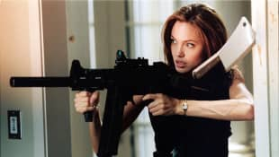 "Angelina Jolie als ""Jane Smith"" in ""Mr.& Mrs. Smith"""
