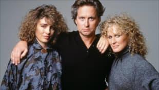 Anne Archer, Michael Douglas und Glenn Close