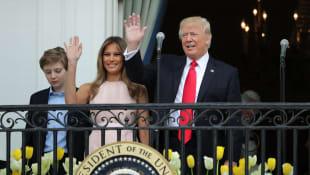 Barron, Melania und Donald Trump