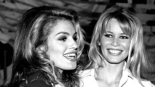 Cindy Crawford und Claudia Schiffer