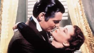 """Clark Gable und Vivien Leigh in """" Vom Winde verweht"""" 1939"""