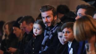 David Beckham, Harper, Cruz, Romeo und Brooklyn