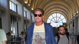 David Hasselhoff am Flughafen von Los Angeles