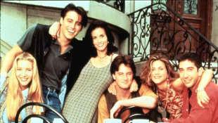 """Die """"Friends""""-Darsteller: Lisa Kudrow, Matt LeBlank, Courteney Cox, Matthew Perry, Jennifer Aniston und Daivd Schwimmer"""