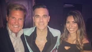 Dieter Bohlen mit Frau Carina und Robbie Williams