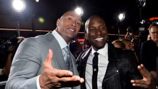 Dwayne Johnson Tyrese Gibson The Fast And The Furious