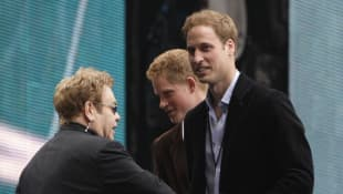 Elton John, Prinz Harry und Prinz William