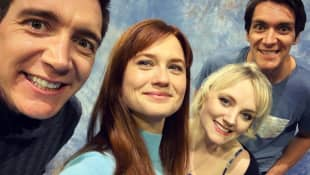 evanna lynch, bonnie wright, james und oliver phelps