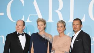 Fürst Albert II., Charlène von Monaco, Katy Perry und Orlando Bloom