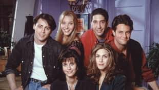 """(obere Reihe von links) Matt LeBlanc, Lisa Kudrow, David Schwimmer, Metthew Perry, (untere Reihe) Jennifer Aniston und Courtney Cox haben bei """"Friends"""" die Hauptrollen gespielt"""