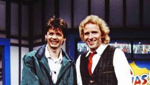 Günther Jauch und Thomas Gottschalk im Jahr 1987
