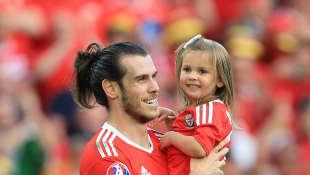 Gareth Bale und Tochter Alba Violet
