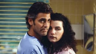"George Clooney and Julianna Margulies in ""Emergency Room"""