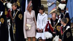 König Willem-Alexander, Königin Máxima, Herzogin Kate, Prinz William und König Felipe