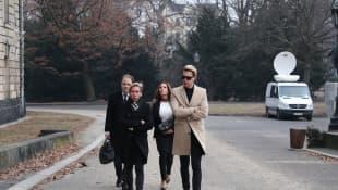 Gina-Lisa Lohfink auf dem Weg zum Gericht