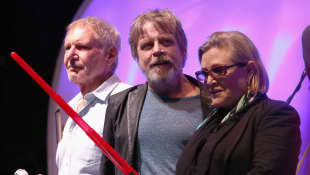 Harrison Ford, Mark Hamill und Carrie Fisher