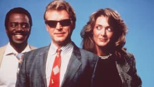 Harrison Page, David Rasche und Annie-Marie Martin