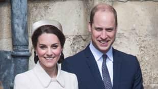 Herzogin Kate und Prinz William beim feierlichen Gottesdienstbesuch