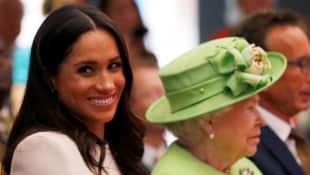 Herzogin Meghan Königin Elisabeth II
