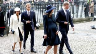 Herzogin Meghan, Prinz Harry, Herzogin Kate und Prinz William