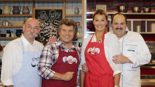 Horst Lichter, Andy Borg, Franziska van Almsick und Johann Lafer