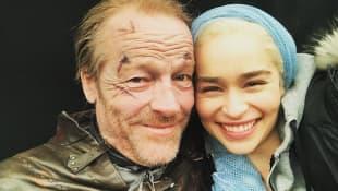 Iain Glen, Emilia Clarke