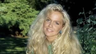 Inka Bause mit langen Haaren früher Blonde Mähne Moderatorin Das Spiel beginnt