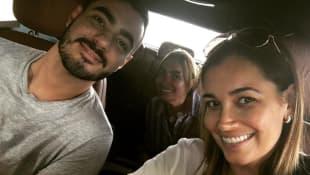 Jana Ina Zarrella mit Bruder Leonardo und Mama Rita