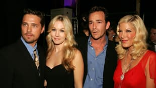 Jason Priestly, Jennie Garth, Luke Perry, Tori Spelling