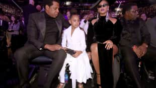 Jay-Z, Blue Ivy and Beyonce Knowles bei den Grammys in New York 2018