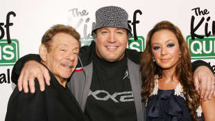 "Jerry Stiller, Kevin James und Leah Remini bei einer ""King of Queens""-Premiere"