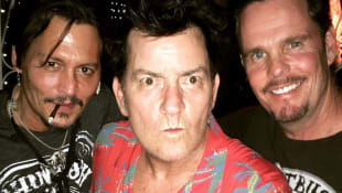 Johnny Depp, Charlie Sheen und Kevin Dillon