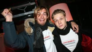 """Joko Winterscheidt und Matthias Schweighöfer bei einem Charity-Event der """"Jungen Helden"""" für MTV 2007"""