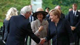 König Carl Gustaf, Königin Silvia und Angela Merkel