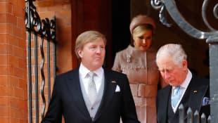 König Willem-Alexander, Königin Máxima und Prinz Charles