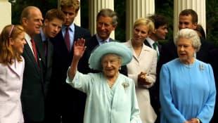 Königin Elisabeth und Queen Mum