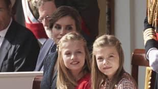 Königin Letizia, Prinzessinnen Leonor und Sofia