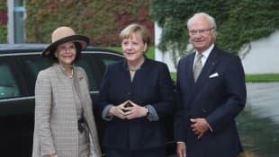 Königin Silvia, Angela Merkel und König Carl Gustaf