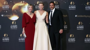Katherine Kelly Lang, Fürstin Charlene von Monaco und Thorsten Kaye