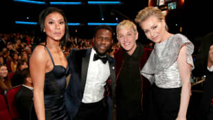 Eniko und Kevin Hart, Ellen DeGeneres und Portia de Rossi