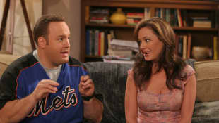 "Kevin James and Leah Remini in ""King of ""Queens"""