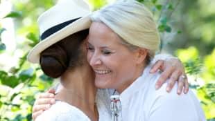 Kronprinzessin Victoria und Mette-Marit von Schweden