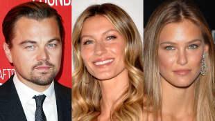 Leonardo DiCaprio mit Model-Ex-Freundinnen Gisele Bündchen und Bar Refaeli