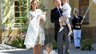 Madeleine von Schweden, Prinzessi Adrienne, Chris O'Neill, Prinz Nicolas und Prinzessin Leonore